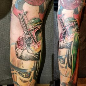 hollis-candrell-iconic-tattoo-piercing-bobafett-starwars-ink